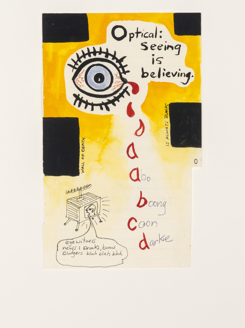 Gordon Bennett, 'Notepad Drawings: Optical: Seeing is Believing', 1995, Contemporary Art Gallery