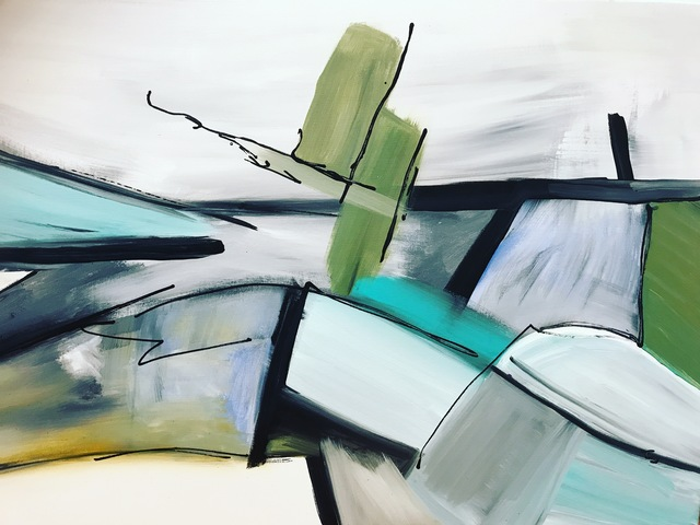 Tiny de Bruin, 'Flevolandschap', 2021, Painting, Acrylic, Tiny's Galerie