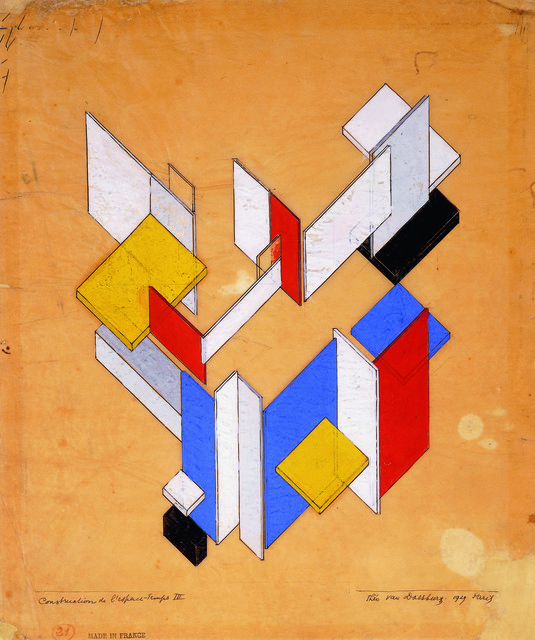 Theo Van Doesburg, 'The construction of space-time III', 1924, Centre for Fine Arts (BOZAR)