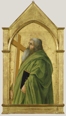 Masaccio, 'Saint Andrew', 1426, Tempera and gold leaf on panel, J. Paul Getty Museum