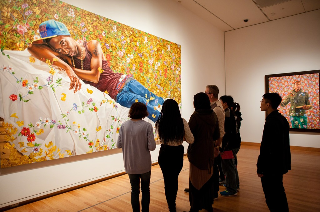 Installation view of Kehinde Wiley: A New Republic at the Seattle Art Museum. © Seattle Art Museum, Photo: Elizabeth Crook.