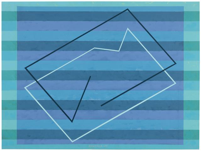 Jorma Hautala, 'Sininen hetki /Blue Moment', 1985, Painting, Acrylic on plywood, Galerie Anhava