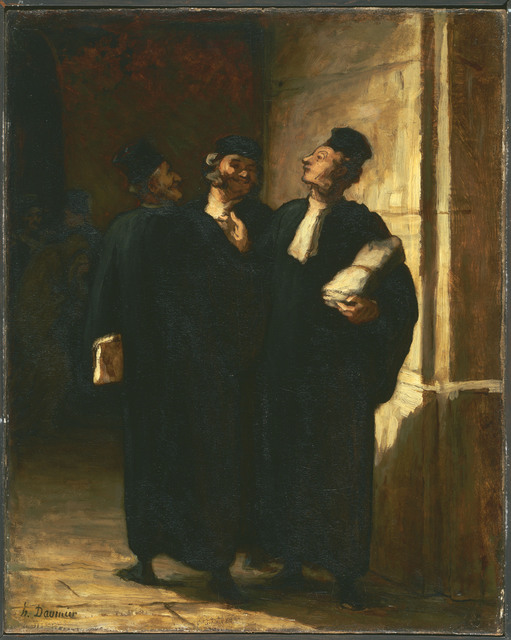 Honoré Daumier, 'Three Lawyers', Between 1855 and 1857, Phillips Collection