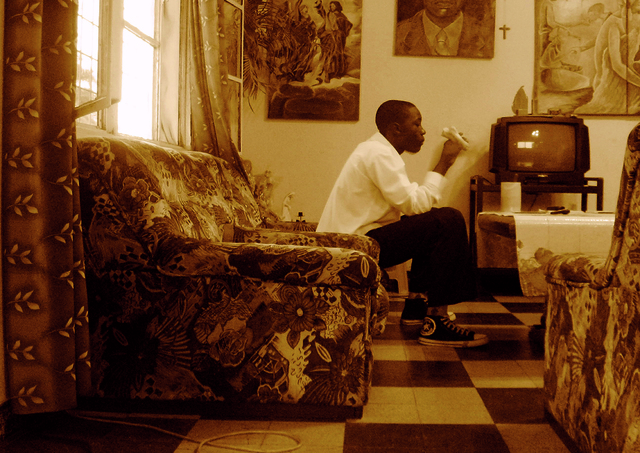 Moridja Kitenge, 'La maison des pauvres 5', ca. 2010, The Print Atelier