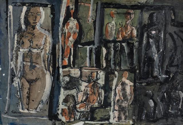 Mario Sironi, 'Composizione con figure', metà Anni '50, Finarte