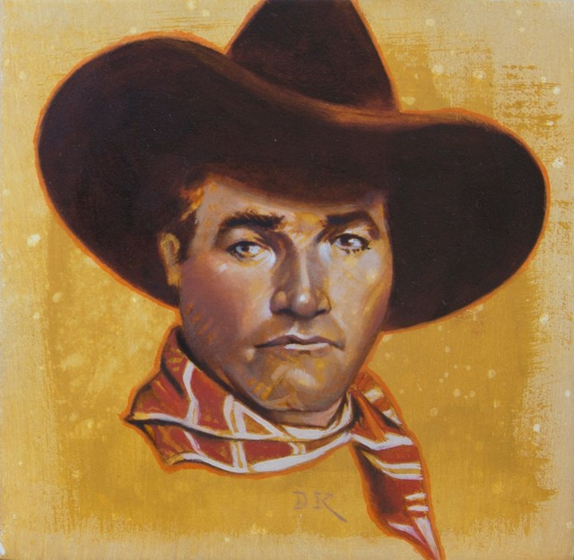 David Kammerzell, 'Mix, Tom Mix', 2019, Painting, Oil on panel, Abend Gallery