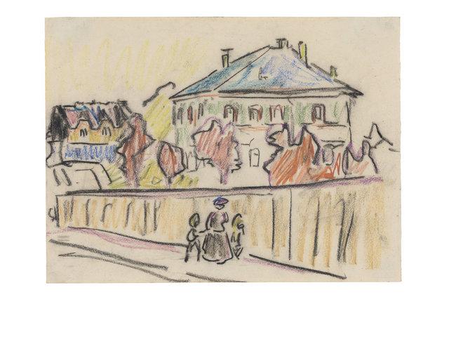 , 'Kleines Palais in Dresden (Villa in Dresden),' ca. 1909, Ludorff