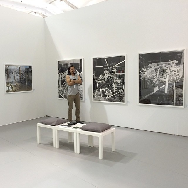 Rodrigo Valenzuela at Upfor's UNTITLED. Miami Beach booth.