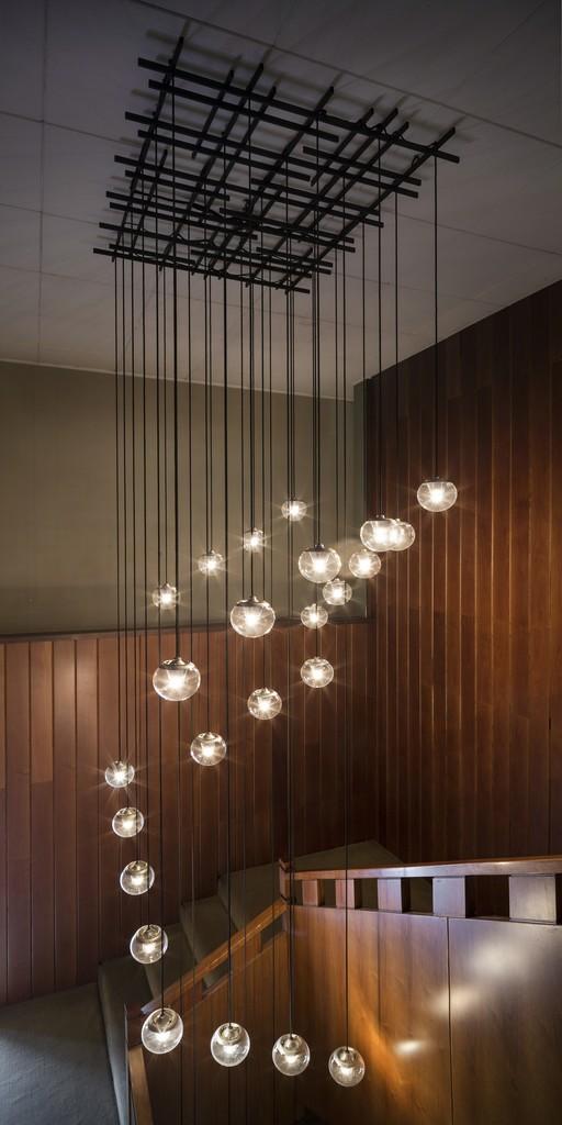 Gino sarfatti unique ceiling lamp 30 spheres 1968 gate 5 gallery