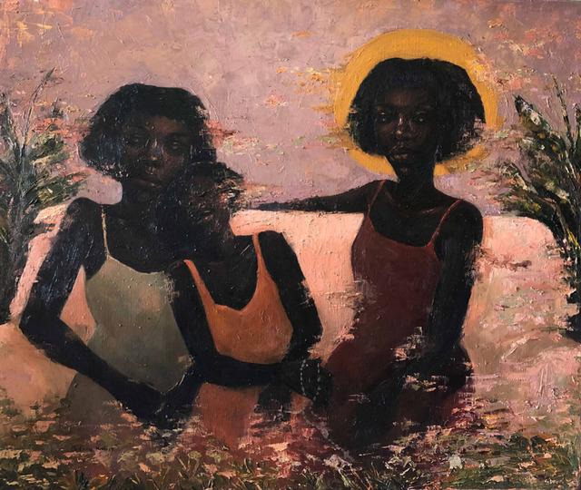 Chidinma Nnoli, 'Sisterhood I ', 2019, Painting, Oil on Canvas, Rele