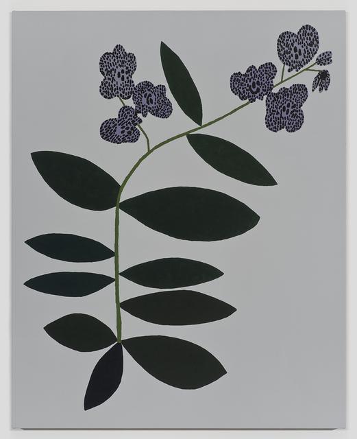 , 'Small Purple Orchid 2,' 2015, David Kordansky Gallery