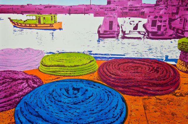 , 'Ocean Cable Disc Blue,' 2014, Fils Fine Arts