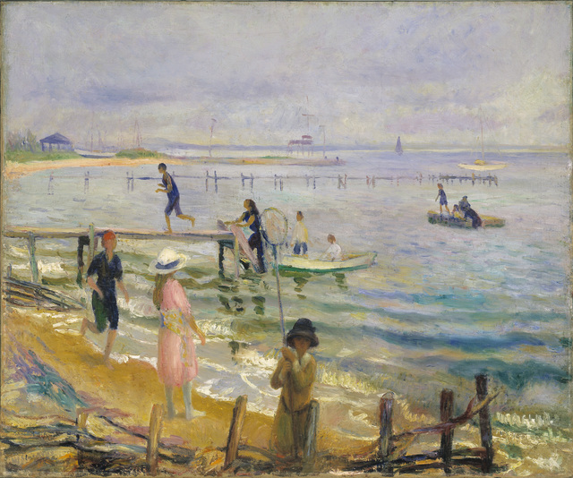 , 'Jetties at Bellport,' ca. 1916, Parrish Art Museum