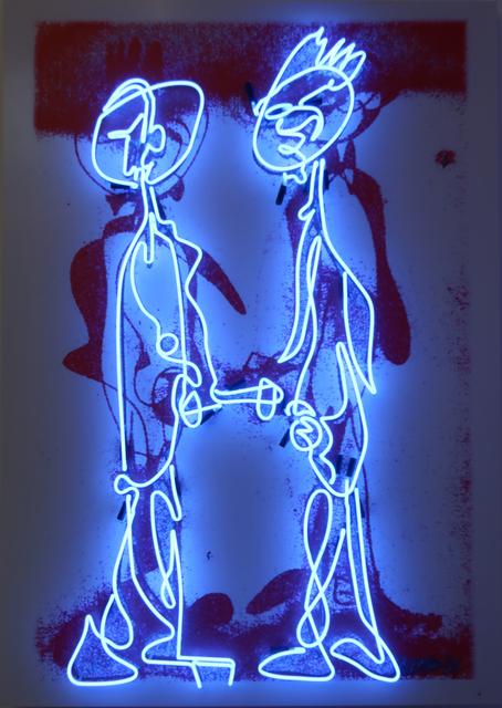 , 'Graffiti Neon (Blue),' 2018, Richard Taittinger Gallery