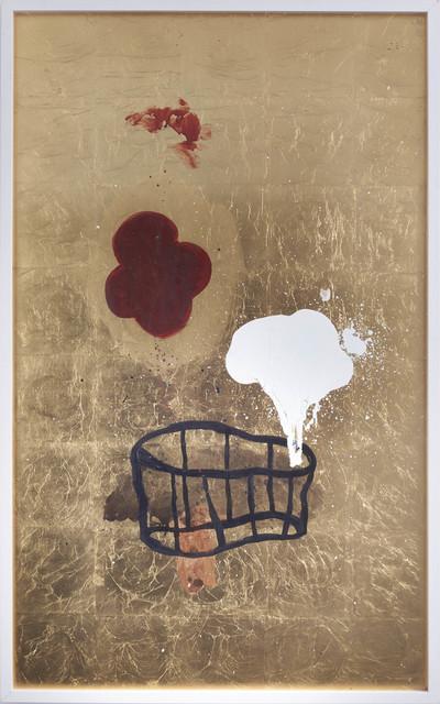Amina Benbouchta, 'The best witchcraft is geometry', 2014, Painting, Acrylic on gold leaf, Sabrina Amrani