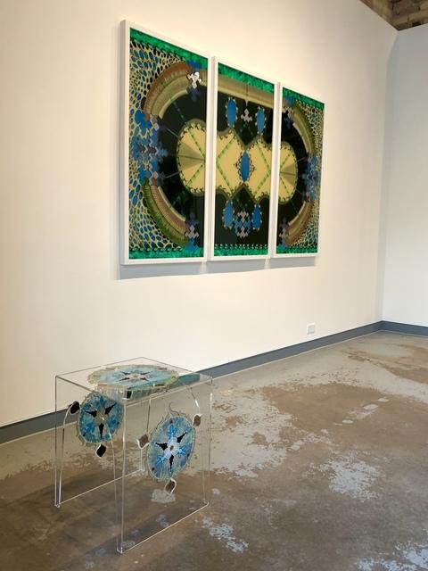 Tara Austin, 'Trillium #3', 2020, Design/Decorative Art, Acrylic and bronze leaf on plexiglass, Joseph Nease Gallery