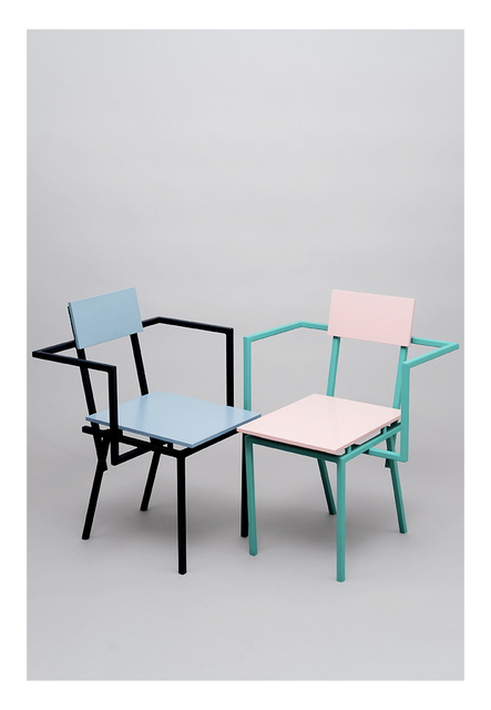 Stromboli Associates, 'Banco Contemporary Chair with armrests / Set of 2', ca. 2018, Store/Husk Design