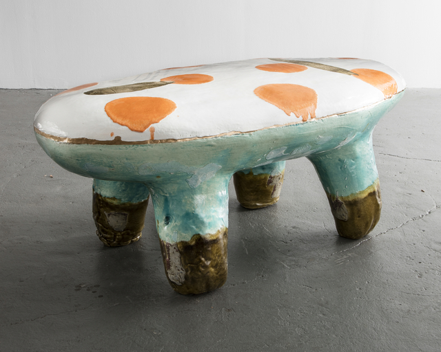 , 'Glazed Ceramic and Gold Leaf Bench,' 2016, R & Company