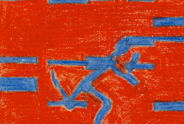 , 'men/ambience III, 0°=45°,' 1974, Anita Beckers