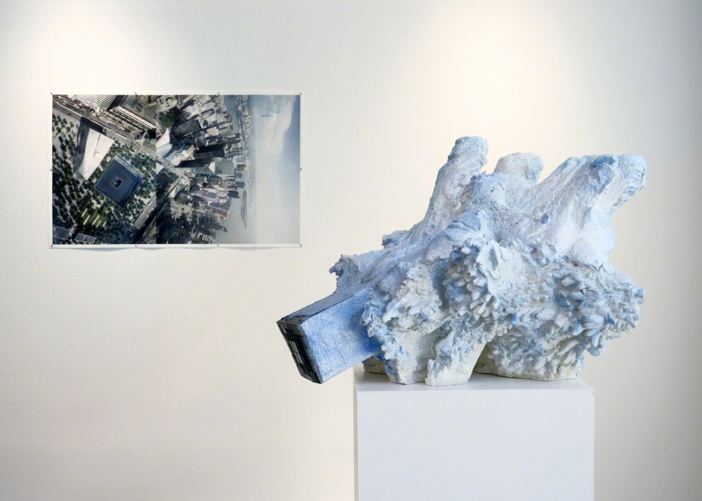 Install view of 'Borrowing an Easterly Wind No. 4,' 2015 and 'Borrowing an Easterly Wind No. 3,' 2015.