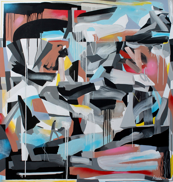 Alberto de Blobs, 'Paisaje Calizo', 2017, Painting, Acrylic and spray paint on linen, Fousion Gallery