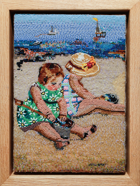 , '2 Girls Playing On The Beach With Tar,' 2008, Paradigm Gallery + Studio