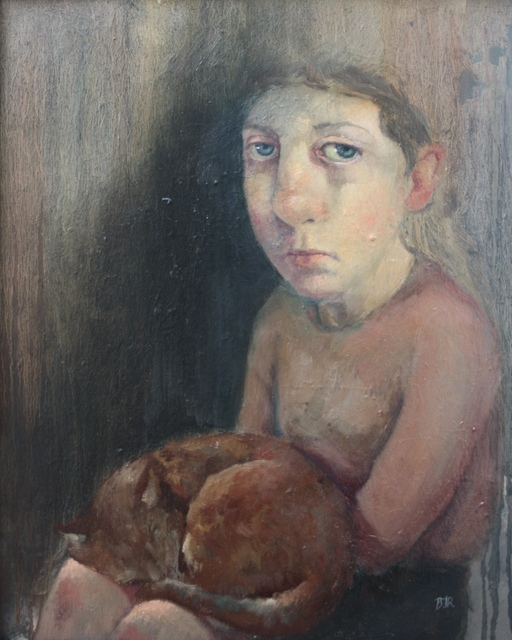 , 'Girl with Cat,' 2018, bo.lee gallery