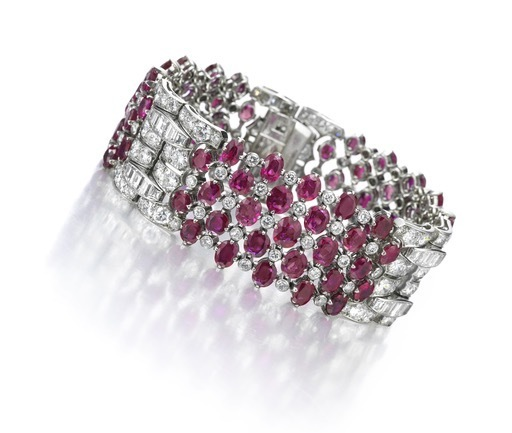 , 'An Art Deco Natural, Burmese Ruby and Diamond Bracelet,' ca. 1935, FD Gallery