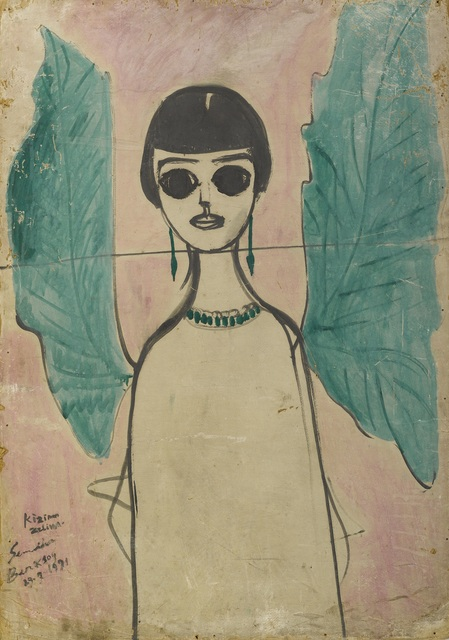 , '(Angel with Green Wings) Zeliha Berksoy,' 1991, Galerist