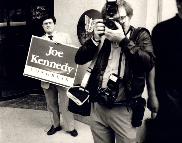 Andy Warhol, 'Andy Warhol, Photograph of Richard Weisman at Joe Kennedy Rally, 1986', 1986, Hedges Projects