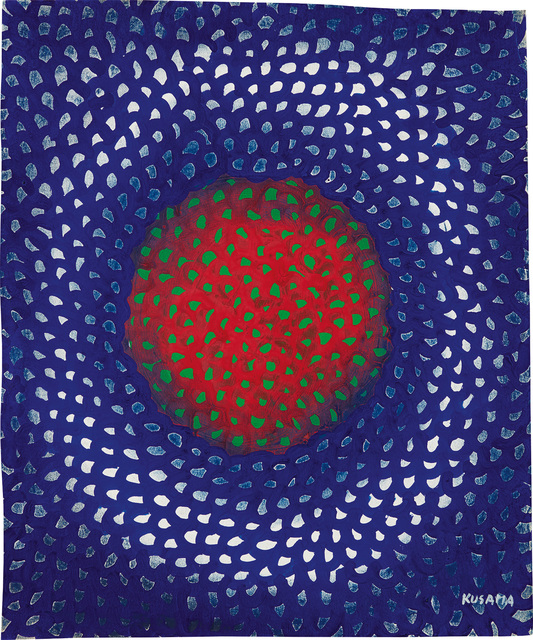 Yayoi Kusama, 'Sun Green', 1957, Phillips