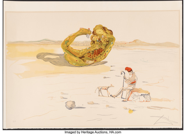 Salvador Dalí, 'Desert Watch, from Time', 1976, Print, Lithograph in colors on Arches paper, Heritage Auctions