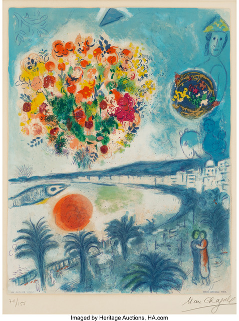 Marc Chagall, 'Sunset, from Nice and the Côte D'Azur', 1967, Heritage Auctions