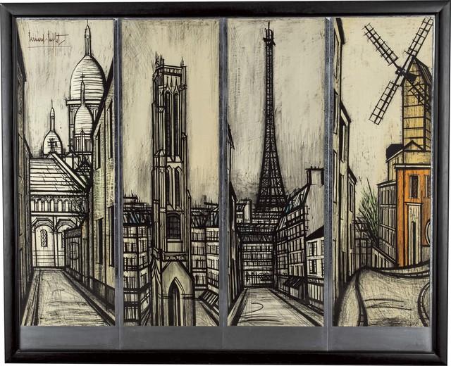 , 'Paravent (1. Le Sacré-Cœur 2. La Tour Saint-Jacques 3. La Tour Eiffel 4. Le Moulin de La Galette),' 1967, Opera Gallery