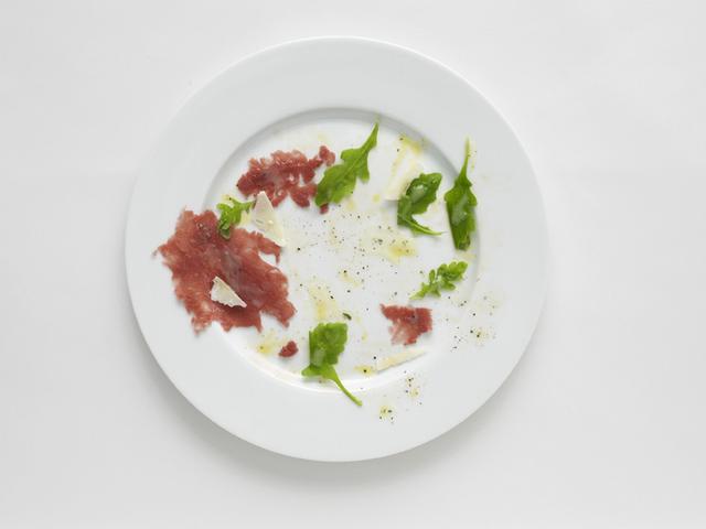 , 'Negative Plate (Beef carpaccio with rucola and parmigiano),' 2013, Francesca Minini