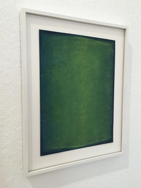 , 'Green gouache,' 2000, Sebastian Fath Contemporary