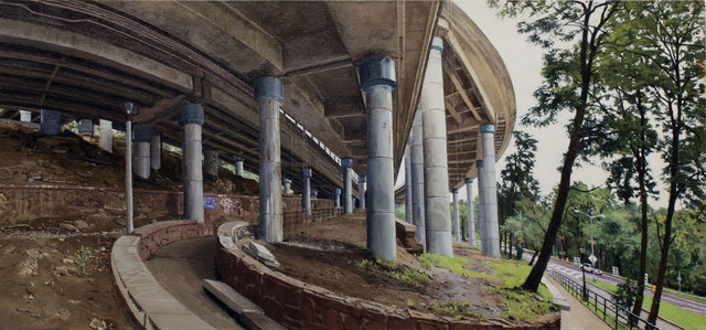 , 'Under an Off-Ramp from the George Washington Bridge,' 2011, Betty Cuningham