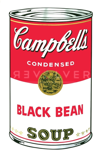 Andy Warhol, 'Campbell's Soup I: Black Bean (FS II.44)', 1968, Print, Screenprint on Paper, Revolver Gallery