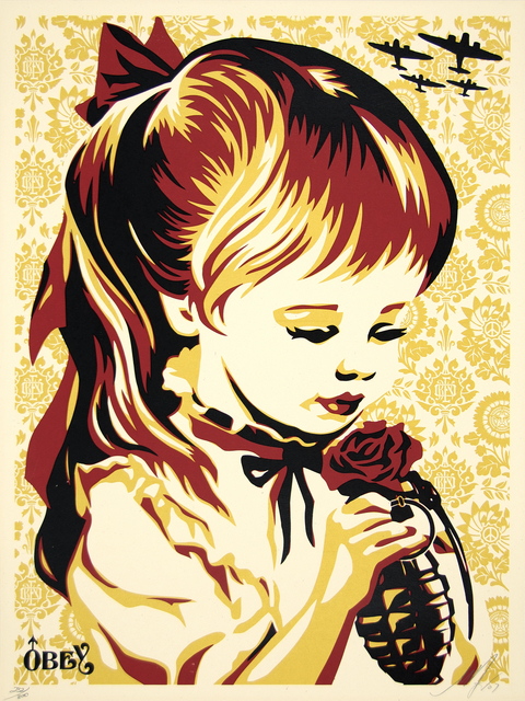 Shepard Fairey, 'War By Numbers (Gold)', 2007, Heather James Gallery Auction