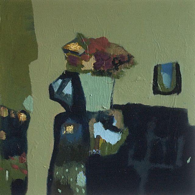, 'Flowers with Sage Green,' 2015, Galerie de Bellefeuille