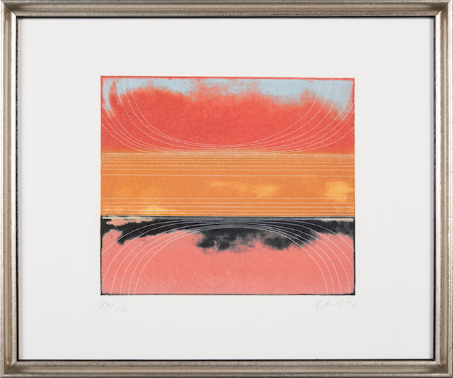 Ed Clark, 'Le Rouge et le Noir, Blue, and Amber Red Circles', 1997, Rush Philanthropic Arts Foundation Benefit Auction