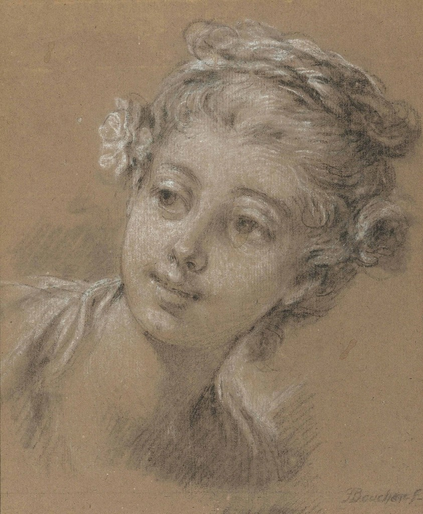 fran231ois boucher head of a young girl artsy