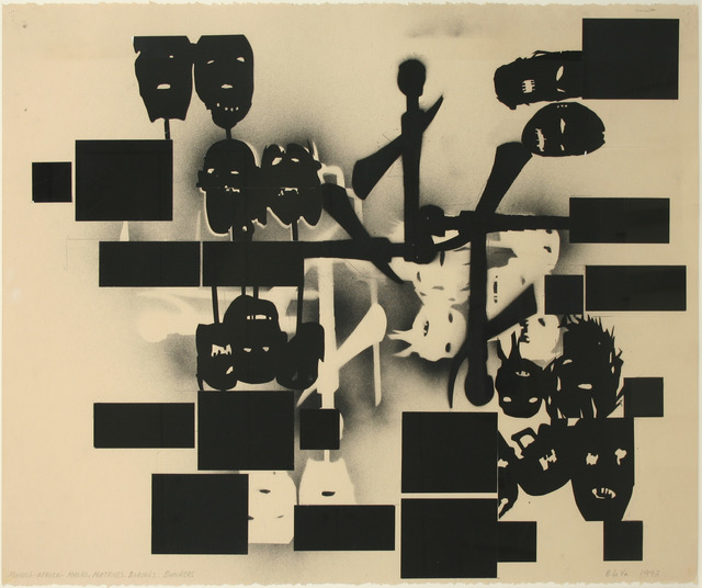 , 'Untitled (Munich-Africa - Masks, Matrixes, Burials, Bunkers),' 1993, Jahn und Jahn