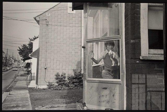Frank Paulin, 'Boy with rabbit, Easton, Pennsylvania', 1981, Bruce Silverstein Gallery
