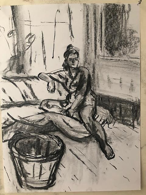 Anne Delaney, 'Alex in the Studio', 2019, Bowery Gallery
