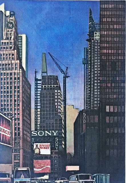 Richard Haas, 'Times Square Looking North [from 42nd Street] ', 1990, Alpha 137 Gallery