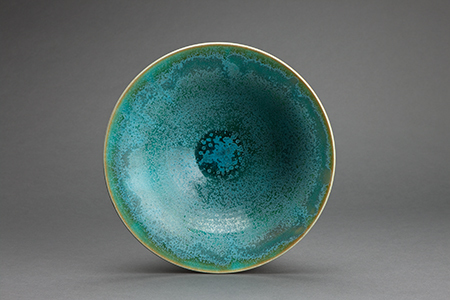 , 'Trumpet flair bowl, patina blue-green glaze,' , Pucker Gallery