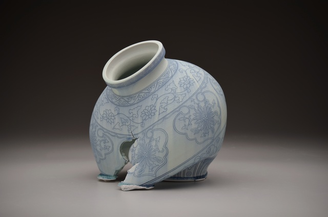 Steven Young Lee, 'Kuan Jar in Blue and White', 2016, Duane Reed Gallery