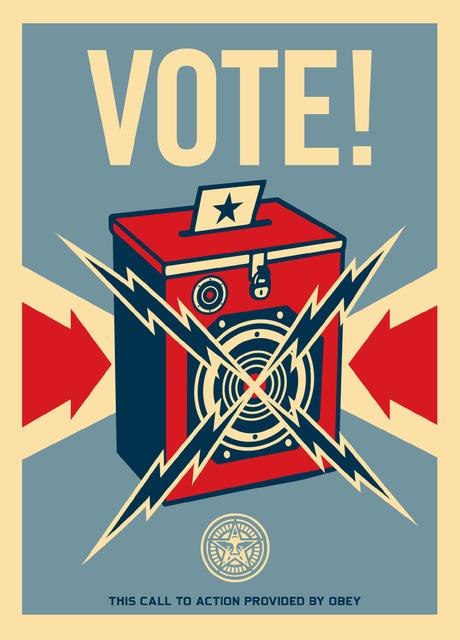 Shepard Fairey (OBEY), 'Vote!', Bruce Lurie Gallery