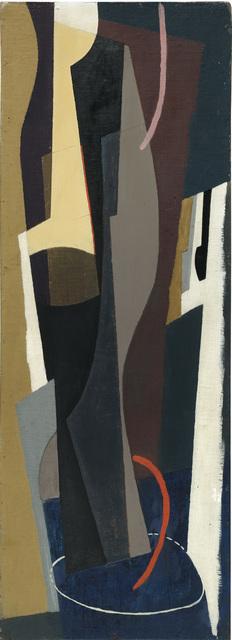 John Piper, 'Tall Forms on Dark Blue', 1937, The Fine Art Society